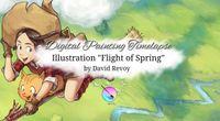 """Flight of Spring"", Krita Digital painting Timelapse by David Revoy by Shichimi archival channel"